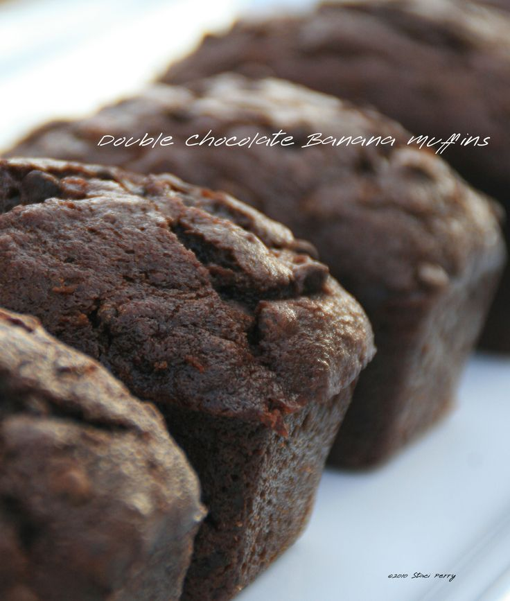 double chocolate banana muffins This is literally THE best muffins I have ever had in my life.