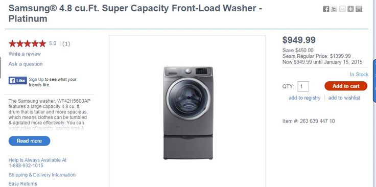 Samsung Washer from Sears