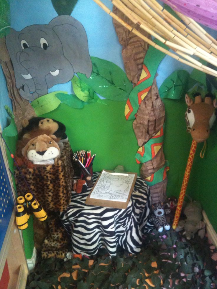 Jungle safari role play area