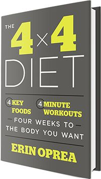 Discover the 4 key foods and the 4-minute workouts that will change the way you look and feel in just 4 weeks.