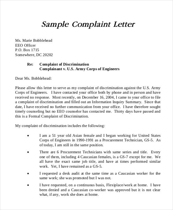 d9ebbccced8df3ddd55531c6b5e54968 Sample Complaint Letter To Attorney Template on attorney general, poor service,