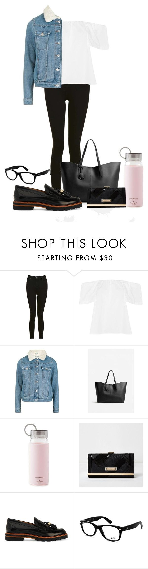 """Trend Outfit"" by ellirose-jackson ❤ liked on Polyvore featuring Topshop, MANGO, Kate Spade, River Island, Stuart Weitzman and Ray-Ban"