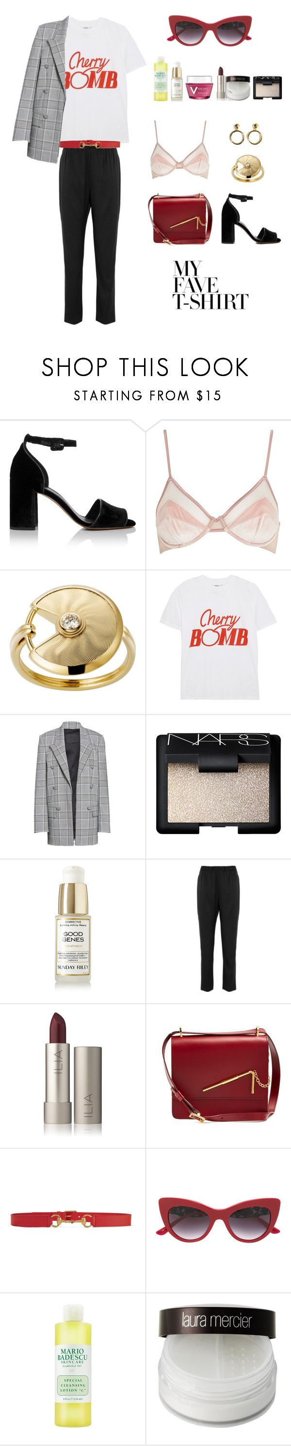 """Sans titre #114"" by slowlymydarling ❤ liked on Polyvore featuring Whistles, Ganni, Alexander Wang, NARS Cosmetics, Sunday Riley, Amy Winehouse, T By Alexander Wang, Sophie Hulme, Gucci and Dolce&Gabbana"