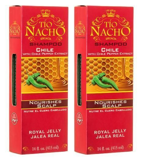 2 Pack Tio Nacho Shampoo Chile With Chile Pepper Extract Nourishes Scalp