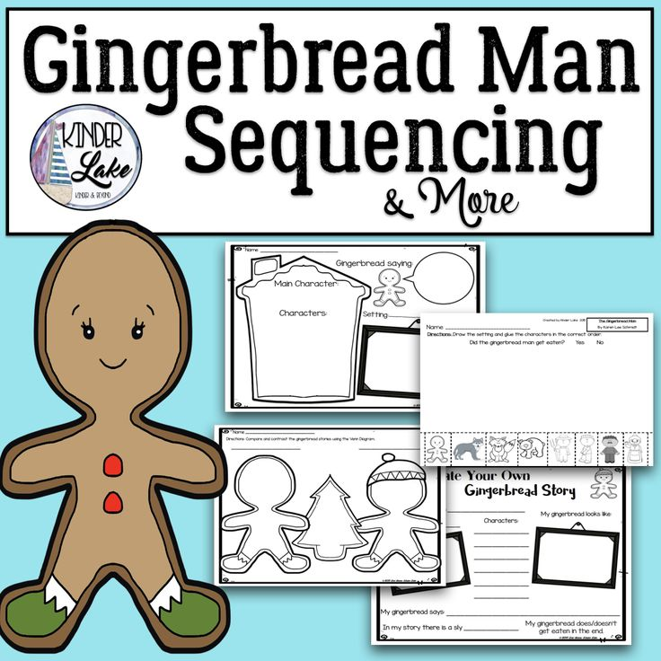 Gingerbread man sequencing more gingerbread man for Gingerbread man story map template