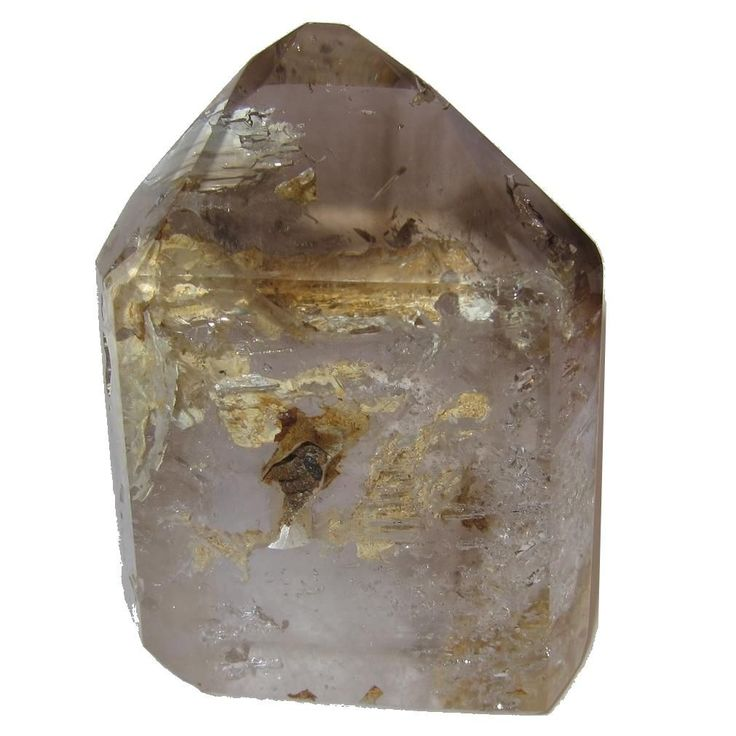 Quartz Point Phantom 54 Rock Flame Picture Perfect Crystal Clear Smoky Quartz Top Tower