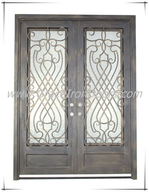 133 best images about wrought iron steel storm doors on for Storm doors for double entry doors