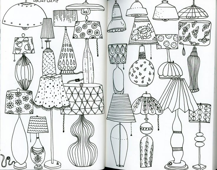 Klika Design Creativebug Drawing Challenge With Lisa Congdon Day 27 Lamp