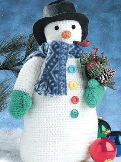 Frosty the Snowman Free Crochet Pattern for Snowman