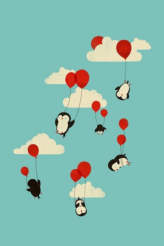 Penguins and balloons...