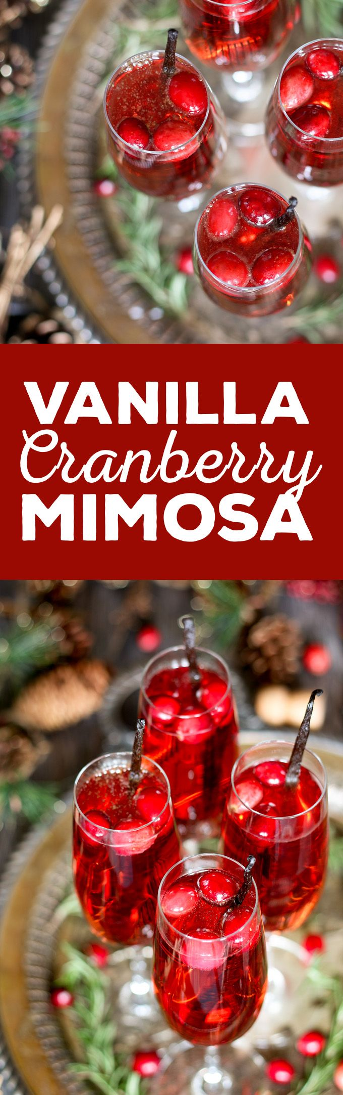 This vanilla cranberry mimosa cocktail is perfect for winter brunches…