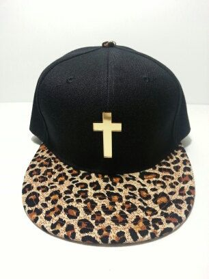 We are proud to have invented this snapback. Feauring Gold Mirror Cross and Cheetah brim. Our most popular hat on Wanelo reaching over 1800 likes