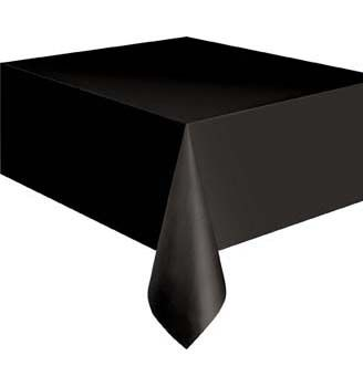 plastic tafelkleed Zwart