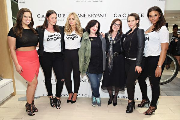 Candice Huffine Photos - Model Ashley Graham, model Candice Huffine, model Justine LeGault , designer Sophie Theallet, Lane Bryant CEO Linda Heasley, model Elly Mayday and model Marquita Pring attend as Lane Bryant celebrates the launch of their campaign #ImNoAngel on April 6, 2015 in New York City. - #IMNOANGEL Campaign Launch