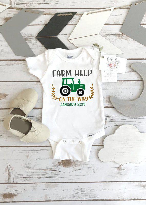 0690bc2cc Farm Help on the Way, Pregnancy Announcement, Dairy Farm Baby, Pregnancy  Reveal,