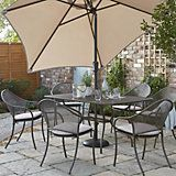 Shrewsbury Metal 6 Seater Dining Set | Departments | DIY at B&Q
