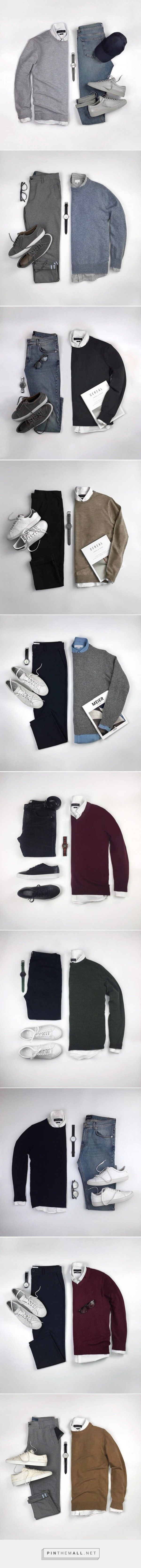 Sweater + Shirt Outfit Ideas For Men #mensfashion