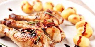 Ağır Ateşte Pişirilmiş Balzamik Sirkeli Tavuk