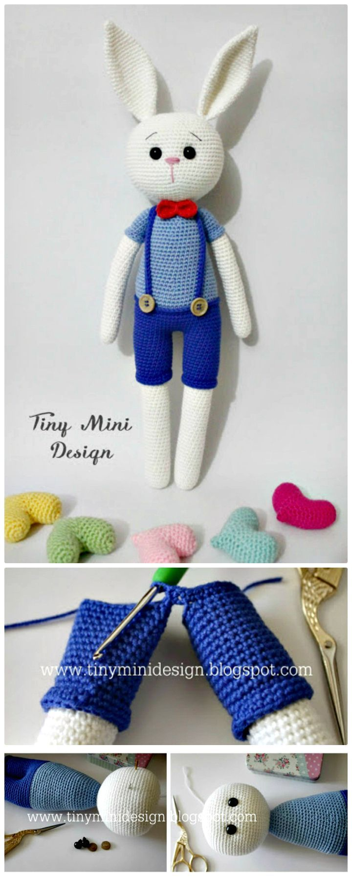 I have prepared a list of 40 free #crochet bunny patterns that will ...