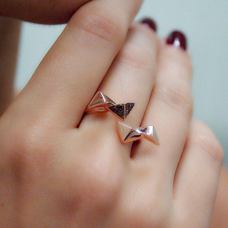 """Origami"" Multi Triangle Diamond Ring - Plukka - Shop Fine Jewelry Online"