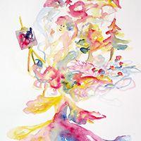 Gondolatok kuszasága eredeti akvarell festmény - megvásárolható #akvarell #art #myart #colorful #aquarell