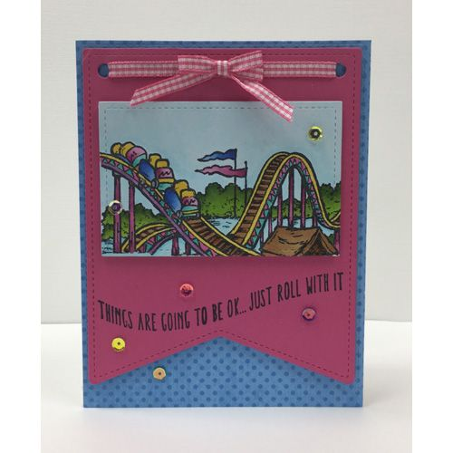 Serendipity Stamps Roller Coaster Cling Stamp Set