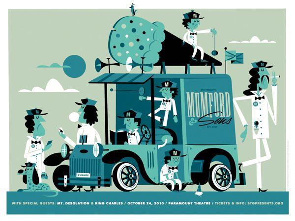 Mumford & Sons band poster