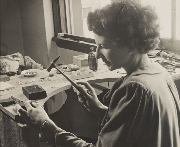 Jewellery maker Dorothy Wager in her studio. Powerhouse Museum Collection 97/164/3-10.