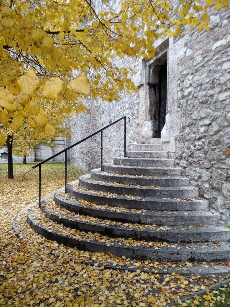 A set of stairs in the Castle district in Budapest.