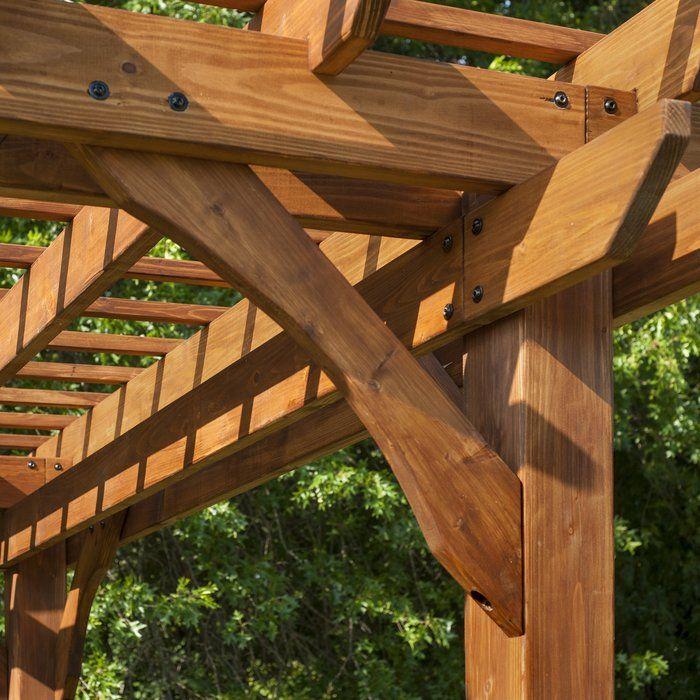 Cedar 12 Ft. W x 10 Ft. D Pergola