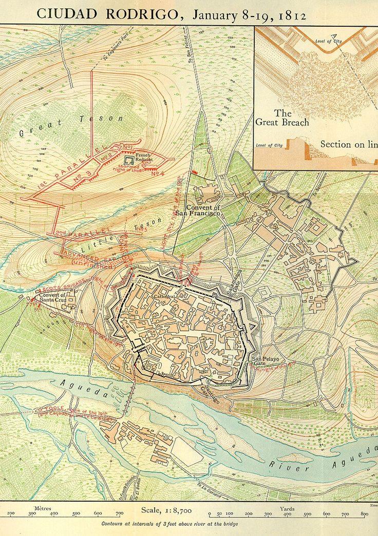 Map of the siege of Ciudad Rodrigo