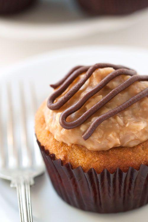 Gluten Free Samoa Cupcakes