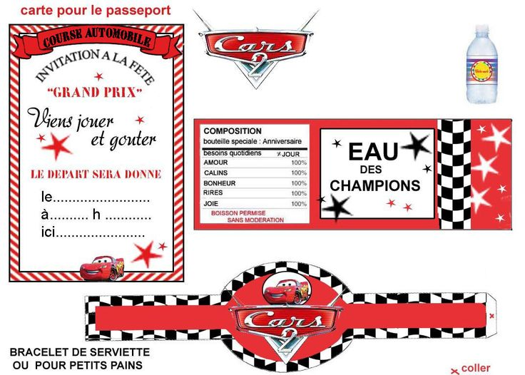 "THEME ""CARS"" DECOR DE FETE POUR FAIRE PLAISIR - 1 et 2 et 3 DOUDOUS * PATRONS* PATTERNS * GABARITS FETE A THEMES POUR ENFANTS"