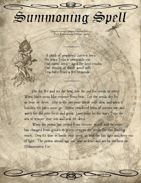 a cute little spell to add to the witches book.