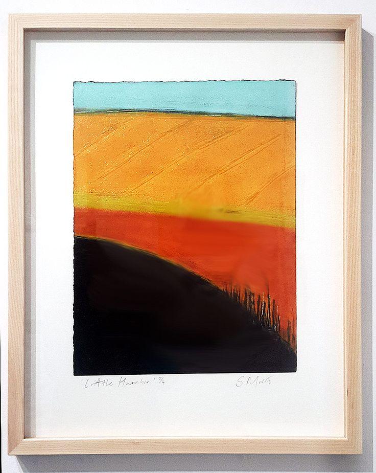 Artist and Devon Guild Member Sarah Morris, framed abstract print. Showcase Jan-Feb 2016.