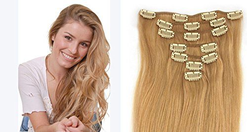 7PCS Extensions remy de cheveux humains a clip 38cm 65grams 7pcs/set,Strawberry Blonde(#27) | Your #1 Source for Beauty Products