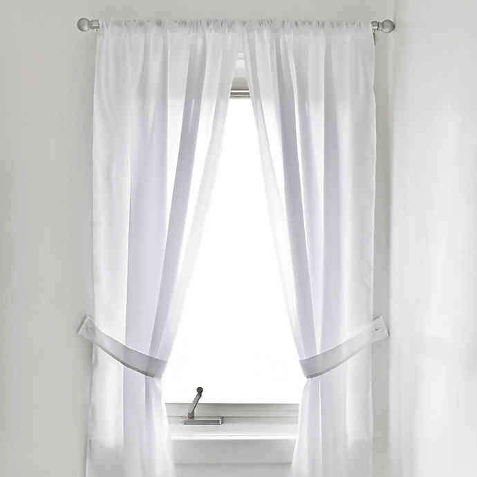 Vinyl Bath Window Curtain In White Bed Bath Beyond Bathroom