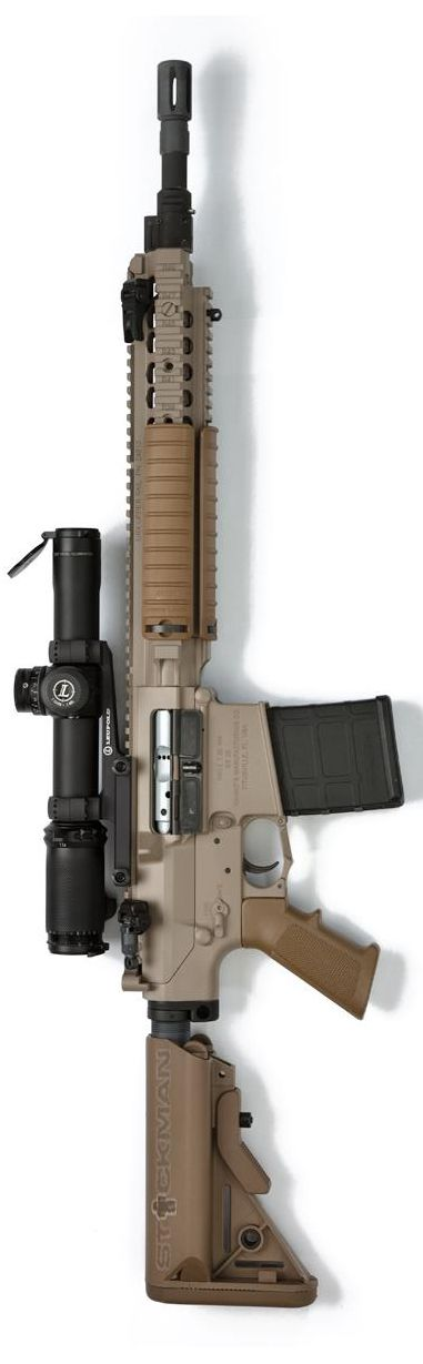 One of Stickman's friends rifle... Knight's Armament Company with Magpul & Leupold scope.