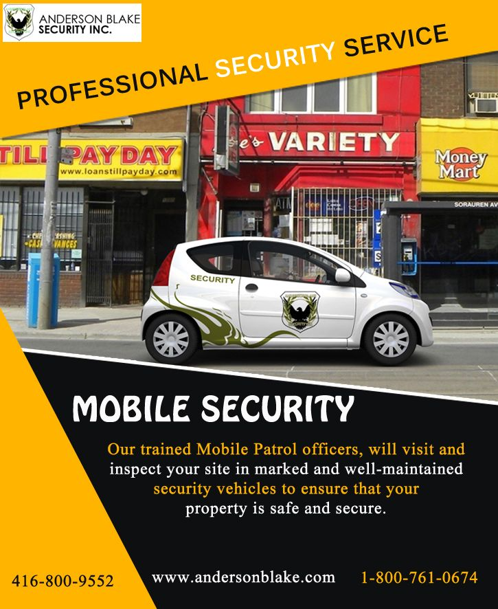 We have highly professional team who give your full time mobile security services Brampton. Just call at: 1-800-761-0674 and 416-800-9552
