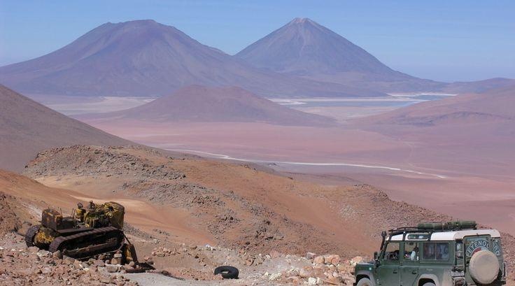 Er zijn erg hoge plekken in de bergen van Bolivia...