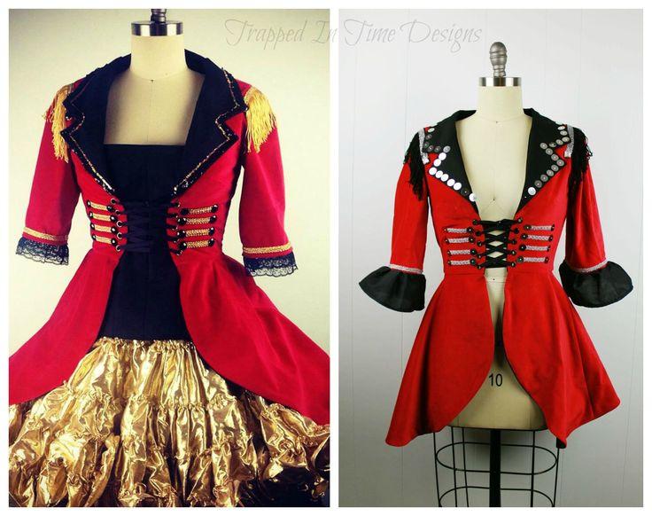 Ringmaster Costume, Ringleader Costume, Women's Ringmaster Jacket, Ringleader Coat, Lion Tamer Costume, Halloween Costume by TrappedInTimeDesigns on Etsy https://www.etsy.com/listing/245544495/ringmaster-costume-ringleader-costume