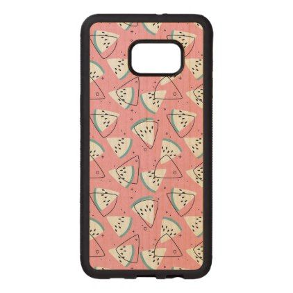 Colorful Watercolor Watermelons Wood Samsung Galaxy S6 Edge Case - diy cyo customize personalize design