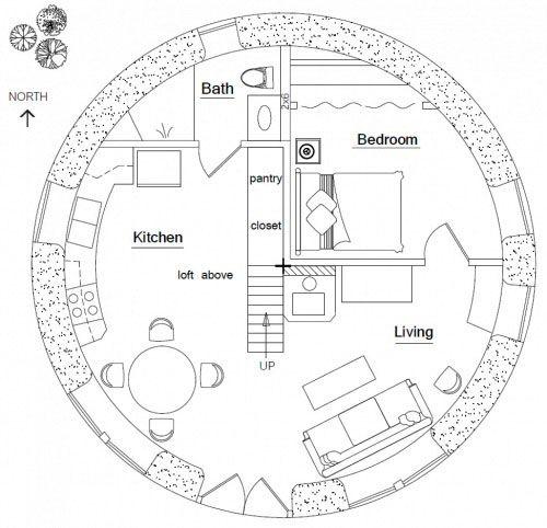 Earthbag Building: Hobbit House Plan
