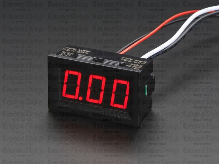 Panel Current Meter - 0 to 9.99A Put a current meter anywhere with this very handy display. This panel meter requires a DC voltage to run, and then has two thick gauge wires to measure current draw.