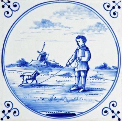 Traditional Delft Blue Tile