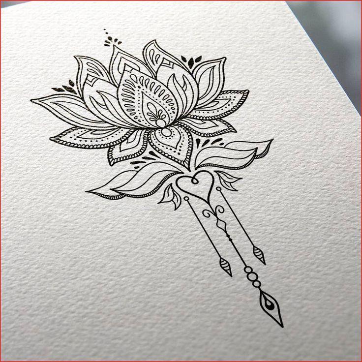Dessin Fleur De Lotus Noir Et Blanc Stupefiant Dessin Fleur De