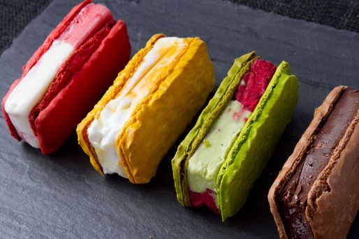 Payard's Macaron Ice Cream Sandwiches #dessert #icecream #nyc