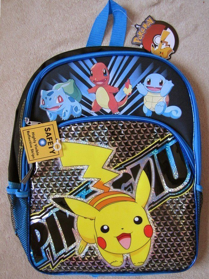 Pokemon Lunch Box - Backpack - Back To School Kit