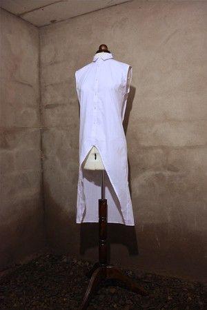 "Unisex Asymmetric Shirt Dress. From ""OKKULT"", the 2013 collection by SARA BURKHARD."