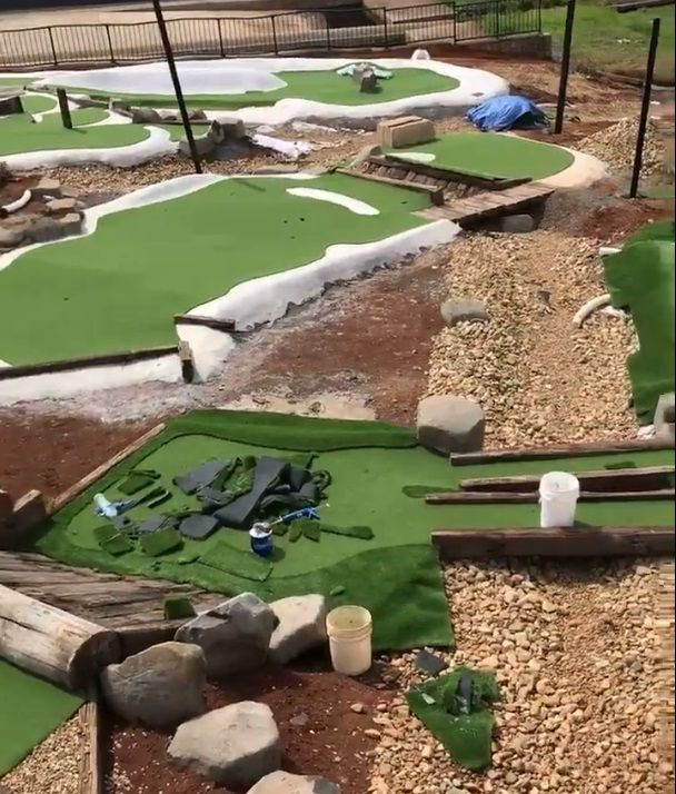 It's coming together quickly! Toowoomba City Golf Club - Mini Golf Course